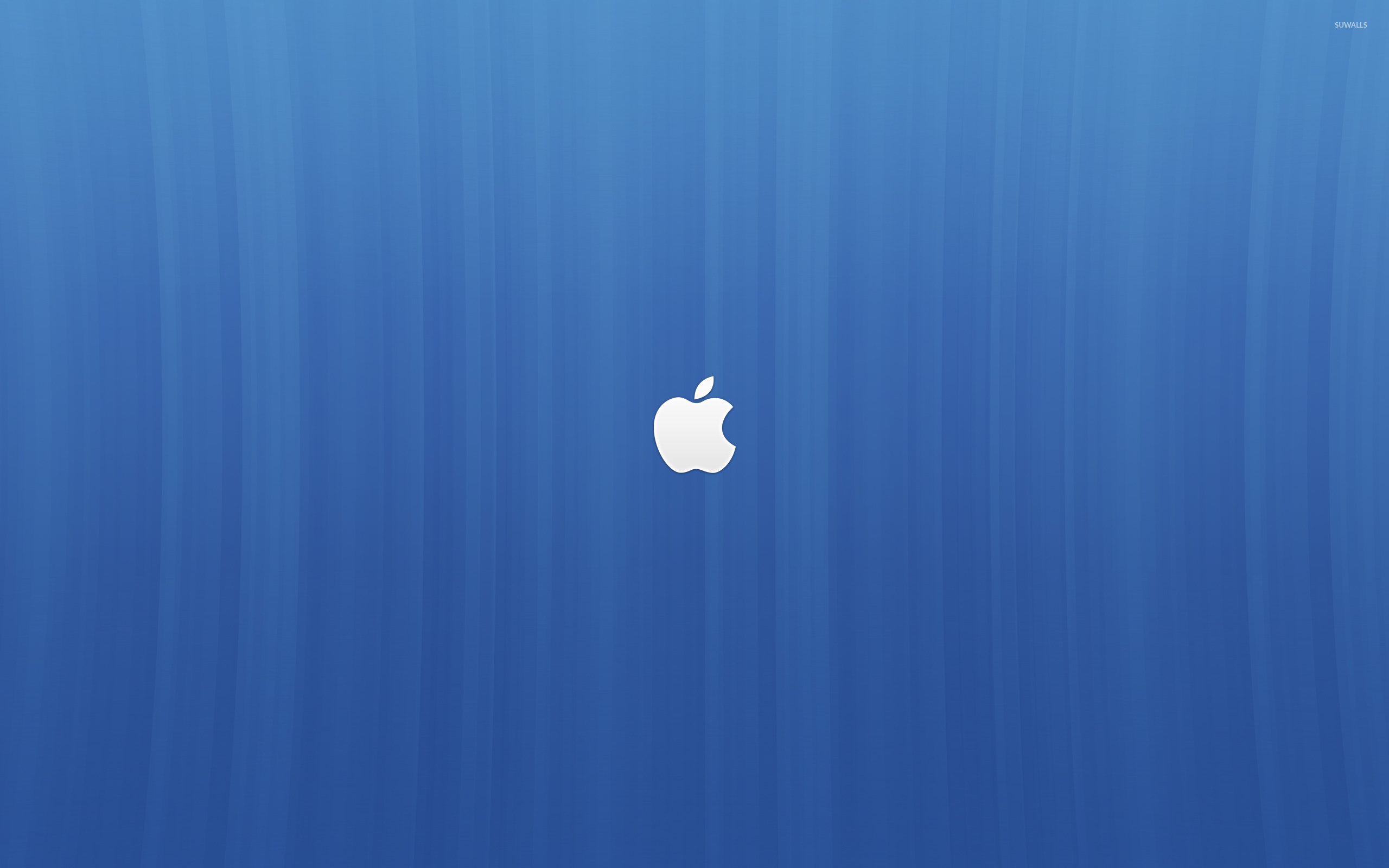 white apple logo on blue lines wallpaper - computer wallpapers - #54107