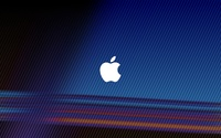 White Apple on bright stripes wallpaper 2880x1800 jpg
