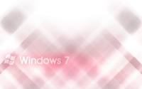 White Windows 7 on pink blur wallpaper 1920x1200 jpg