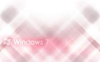White Windows 7 on pink blur wallpaper 1920x1200 jpg