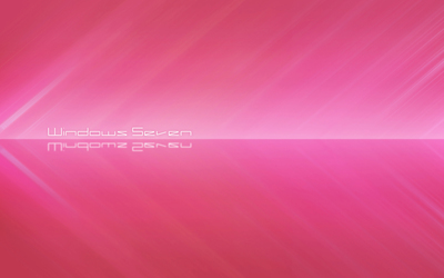 White Windows Seven between pink stripes wallpaper