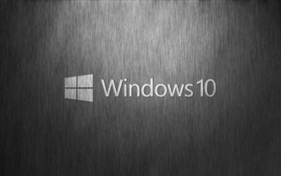 Windows 10 transparent logo on a metallic mesh wallpaper