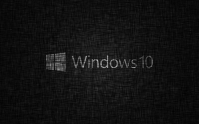 Windows 10 transparent logo on fabric wallpaper