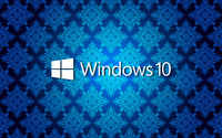 Windows 10 text logo on blue vintage pattern wallpaper 2560x1600 jpg
