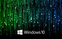 Windows 10 white text logo on meteor shower wallpaper 2560x1600 jpg