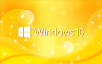 Windows 10 text logo on yellow curves wallpaper 2560x1600 jpg