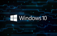 Windows 10 white text logo on a network wallpaper 2560x1600 jpg