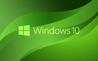 Windows 10 green text logo on green waves wallpaper 3840x2160 jpg