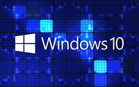 Windows 10 white text logo on blue squares wallpaper 2560x1600 jpg