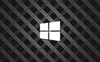 Windows 10 simple white logo on square pattern wallpaper 2560x1600 jpg