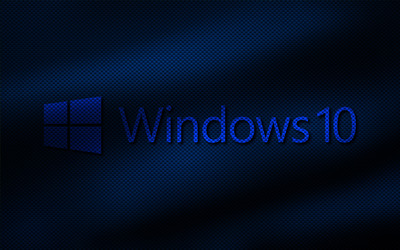 Windows 10 transparent logo on fabric folds wallpaper