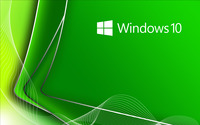 Windows 10 white text logo on green curners wallpaper 2560x1600 jpg