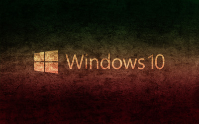 Windows 10 transparent text logo on concrete wallpaper