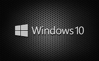Windows 10 white text logo on honeycomb pattern wallpaper 2880x1800 jpg