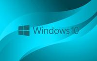 Windows 10 blue text logo on light blue wallpaper 3840x2160 jpg