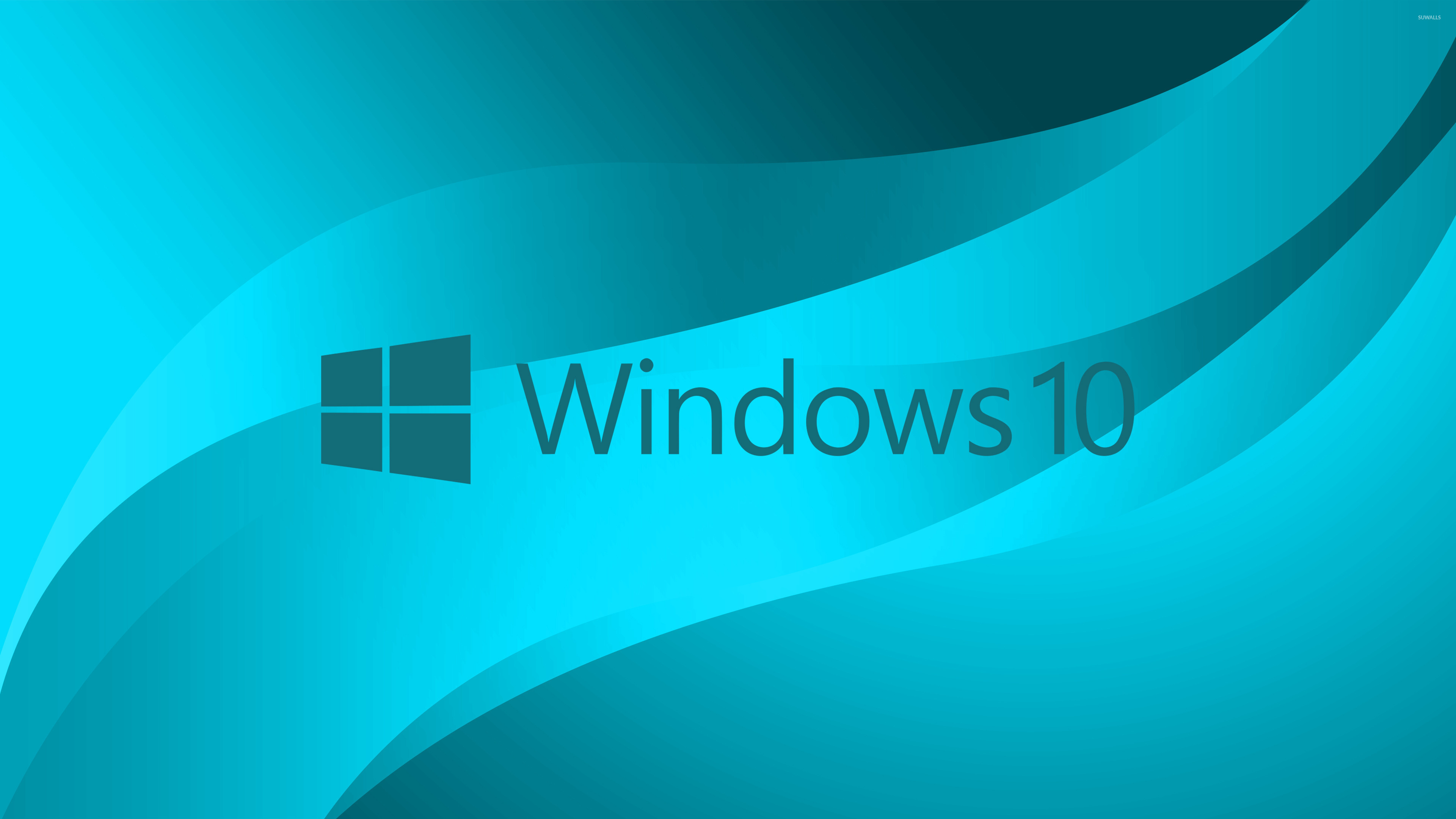 Windows 10 Blue Text Logo On Light Wallpaper