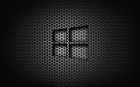 Windows 10 transparent logo on honeycomb pattern wallpaper 2880x1800 jpg