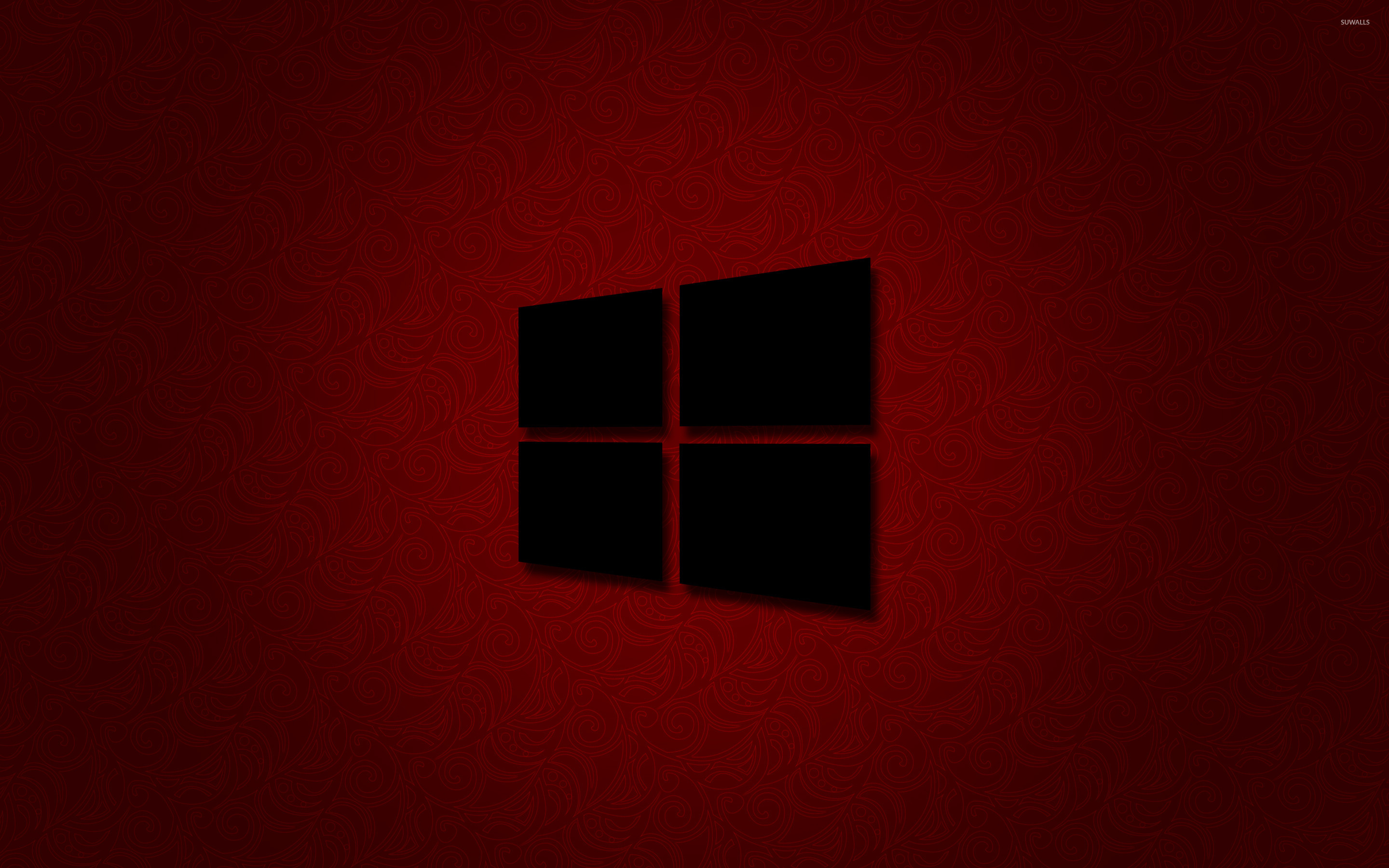 black and red windows 10 wallpaper