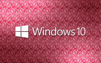 Windows 10 white text logo on a pink pattern wallpaper 2880x1800 jpg