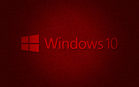 Windows 10 text logo on dark red pattern wallpaper 2880x1800 jpg