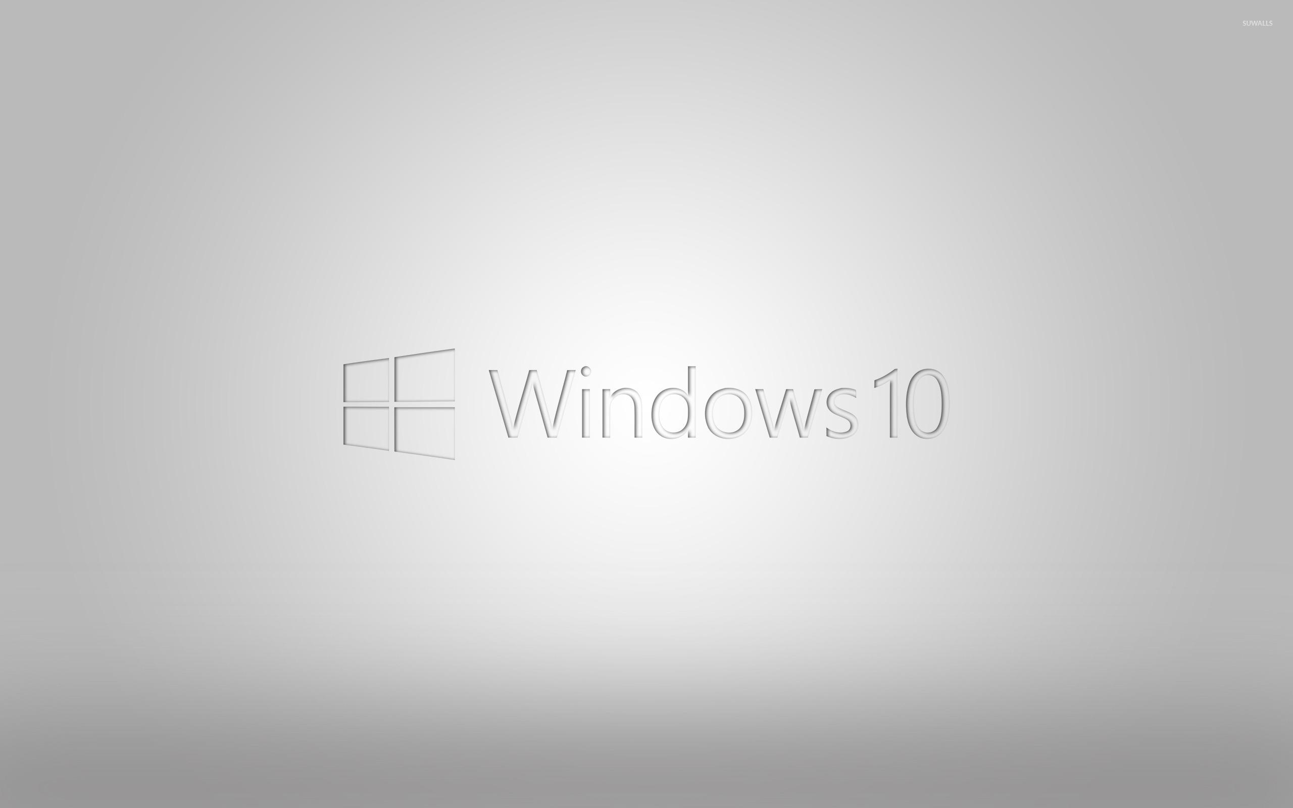 Windows 10 Transparent Logo On Gray Gradient Wallpaper