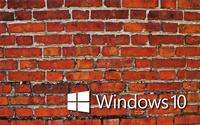 Windows 10 white text logo on the brick wall wallpaper 2560x1600 jpg
