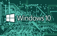 Windows 10 white text logo on a circuit board wallpaper 2560x1600 jpg