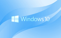 Windows 10 white text logo on light blue wallpaper 3840x2160 jpg
