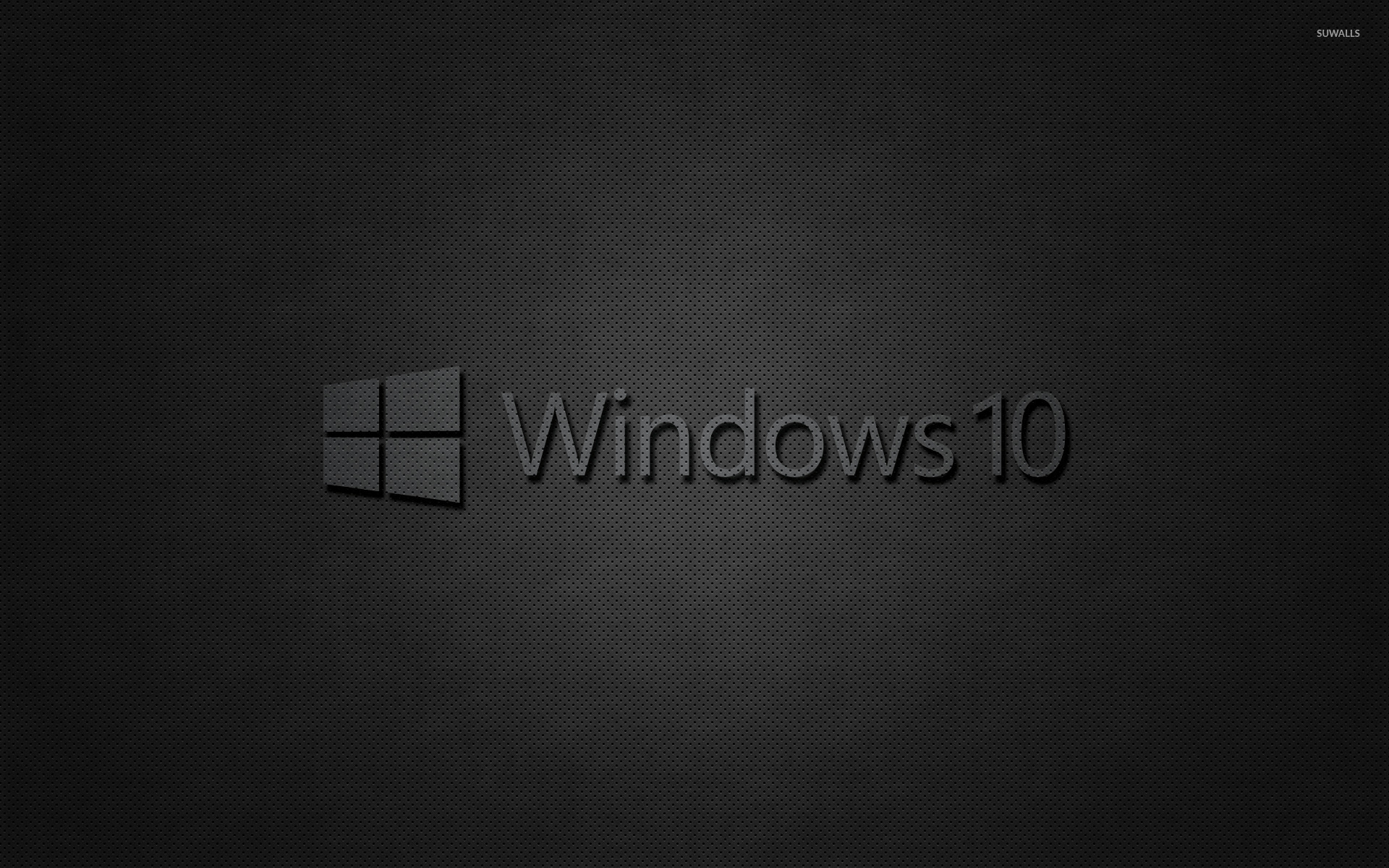 Windows 10 Transparent Text Logo On Black Wallpaper Computer