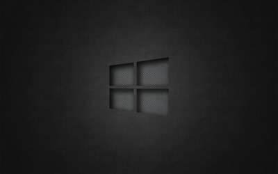 Windows 10 transparent logo on perforated leather wallpaper