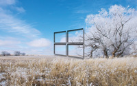 Windows 10 transparent logo over the frosty field wallpaper 1920x1200 jpg