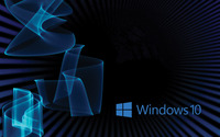 Windows 10 blue text logo on rays and waves wallpaper 1920x1200 jpg