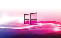Windows 10 transparent logo on purple waves wallpaper 1920x1200 jpg