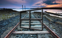 Windows 10 transparent logo over the railway tracks wallpaper 2560x1440 jpg