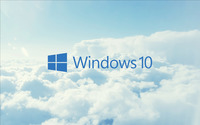 Windows 10 blue text logo in the clouds wallpaper 2560x1600 jpg
