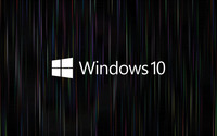 Windows 10 text logo on colorful rain wallpaper 2560x1600 jpg