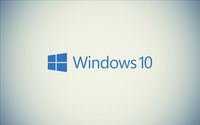 Windows 10 blue text logo on a white wall wallpaper 2560x1600 jpg