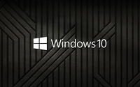 Windows 10 text logo on black metal stripes wallpaper 2560x1600 jpg