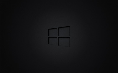 Windows 10 transparent logo on black wallpaper