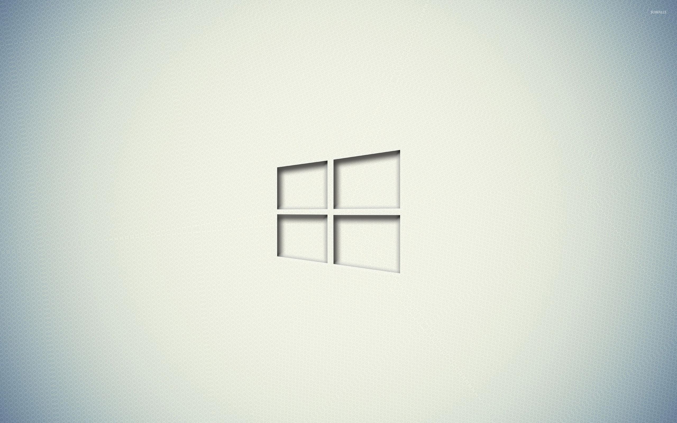 Windows 10 transparent logo on a white wall wallpaper for White wallpaper for walls
