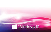 Windows 10 white text logo on purple waves wallpaper 1920x1200 jpg