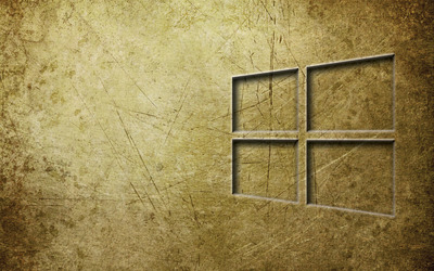 Windows 10 transparent logo on metal wallpaper