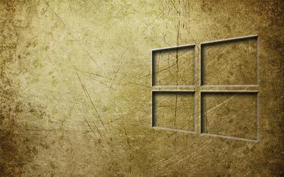 Windows 10 transparent logo on metal wallpaper