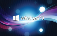 Windows 10 white text logo over the blue cuves wallpaper 1920x1200 jpg