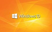 Windows 10 white text logo on orange waves wallpaper 1920x1200 jpg