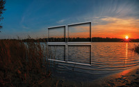 Windows 10 transparent logo in the sunset wallpaper 3840x2160 jpg