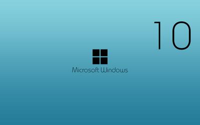 Black Windows 10 wallpaper