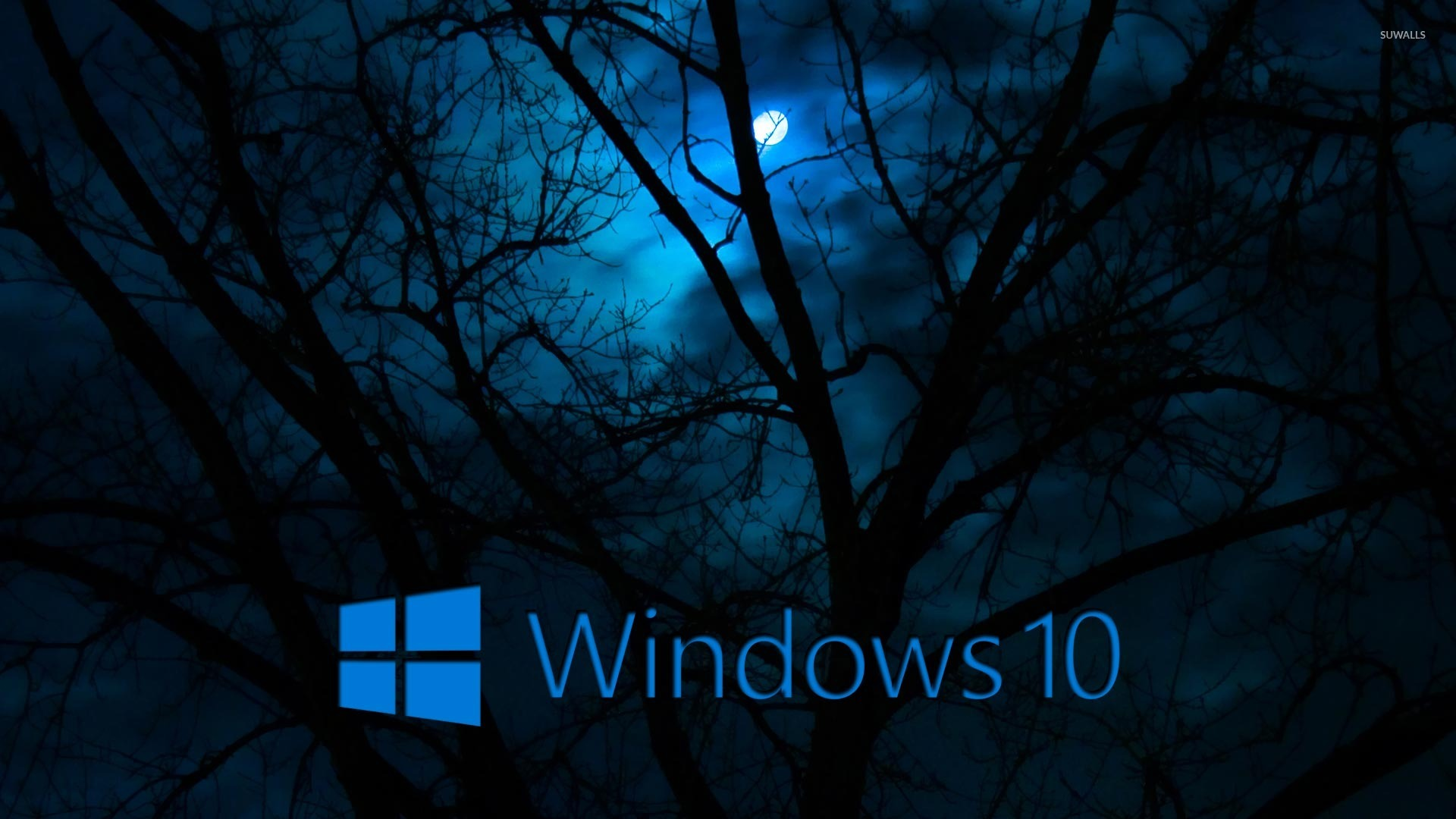 windows 10 in the cloudy night 2 wallpaper computer