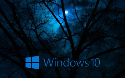 Windows 10 in the cloudy night [2] wallpaper