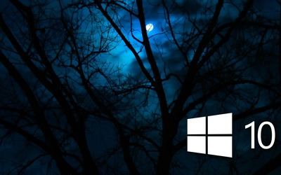Windows 10 in the cloudy night [6] wallpaper